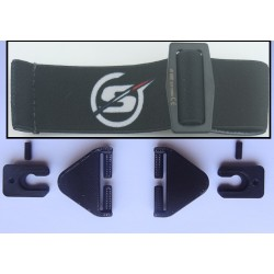 Kit attaches sangles/rails/casques